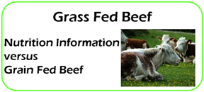 Grass Fed Beef Nutrition